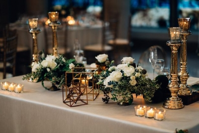 Flower arangements and table decor